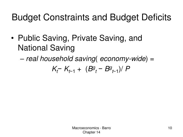 Budget Constraints and Budget Deficits