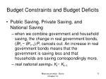 budget constraints and budget deficits5