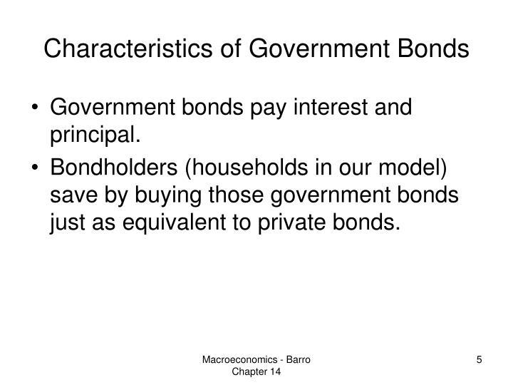 Characteristics of Government Bonds
