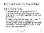 economic effects of a budget deficit5