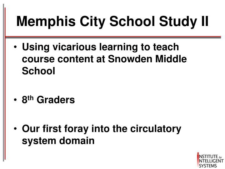 Memphis City School Study II