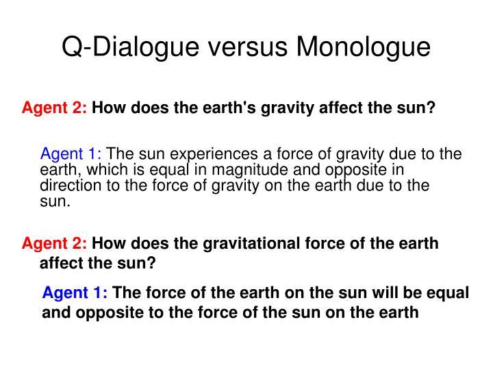 Q-Dialogue versus Monologue