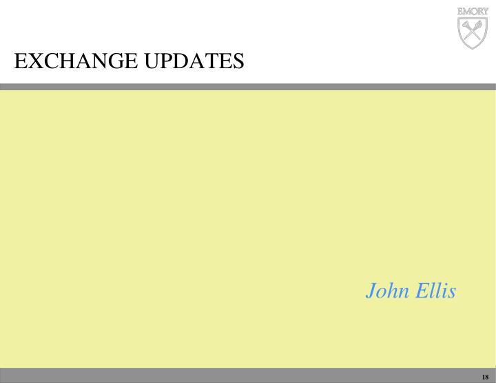 Exchange updates