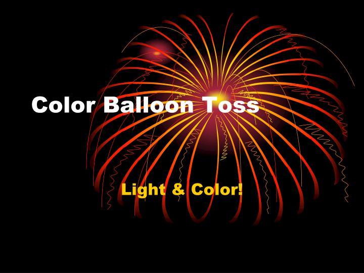 Color Balloon Toss