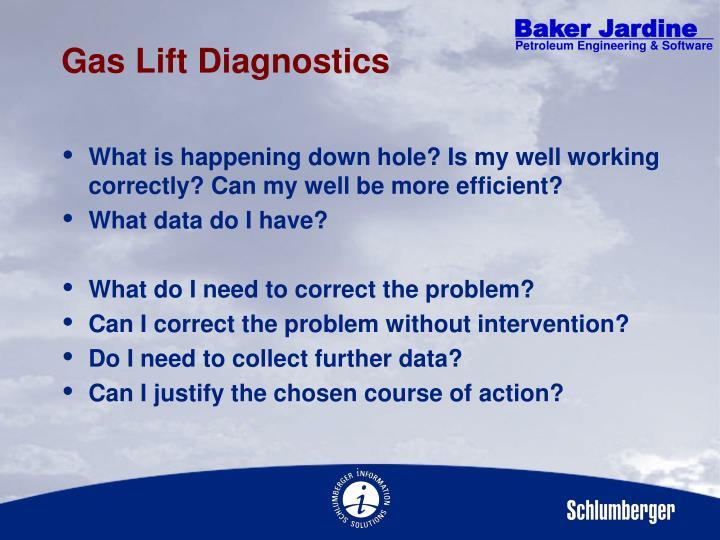 Gas Lift Diagnostics