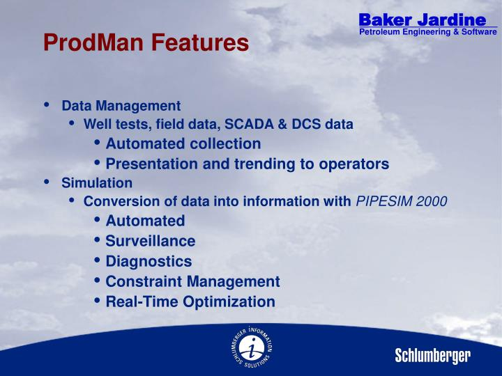 ProdMan Features