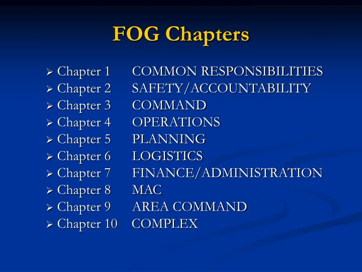 Chapter 1      COMMON RESPONSIBILITIES