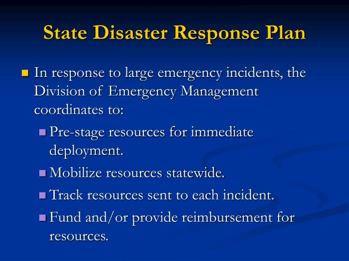 State Disaster Response Plan