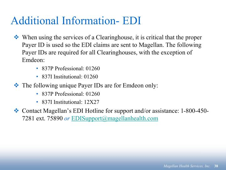 Additional Information- EDI