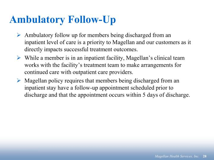 Ambulatory Follow-Up