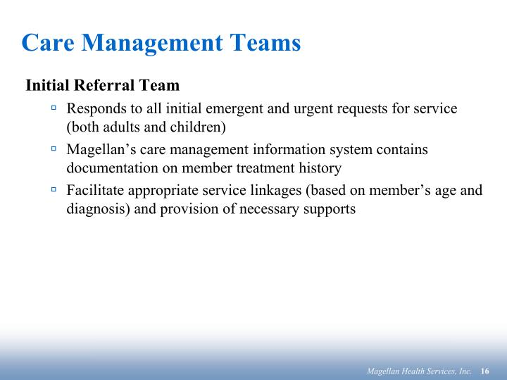 Care Management Teams
