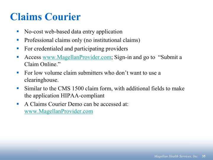 Claims Courier