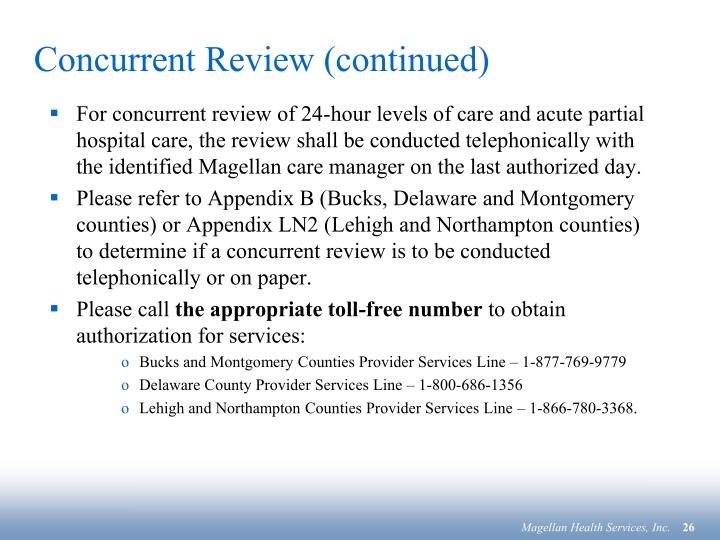 Concurrent Review (continued)