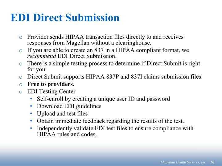EDI Direct Submission