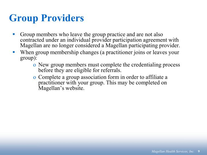 Group Providers