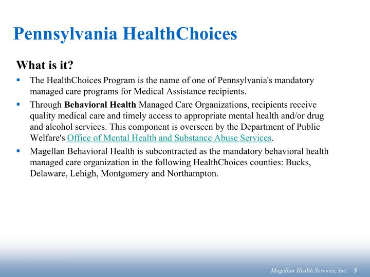 Pennsylvania healthchoices