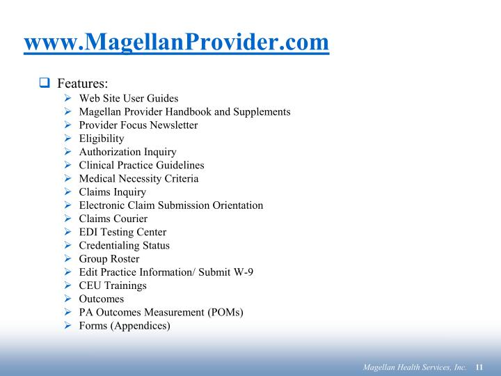 www.MagellanProvider.com