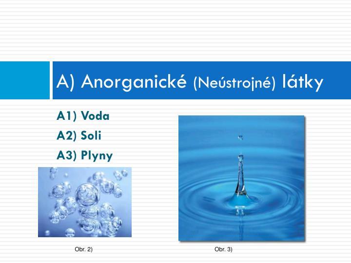 A) Anorganické