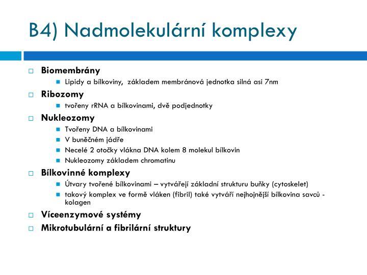 B4) Nadmolekulární komplexy
