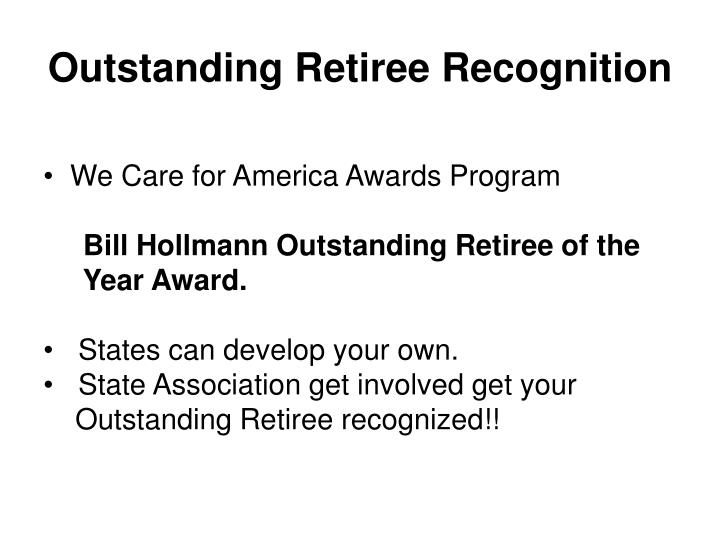 Outstanding Retiree Recognition