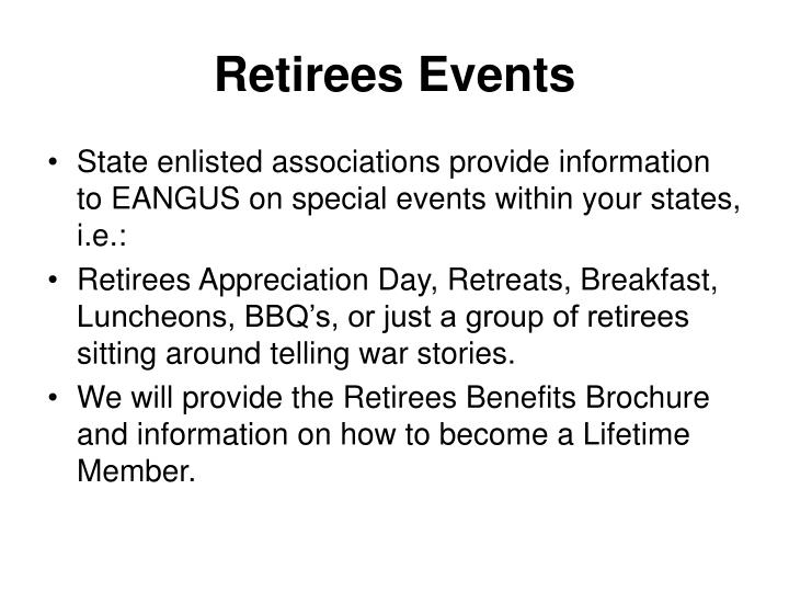 Retirees Events
