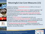meaningful use core measures 151