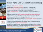 meaningful use menu set measures 5