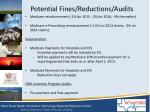 potential fines reductions audits