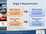 stage 2 requirements