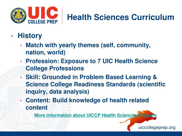 Health Sciences Curriculum