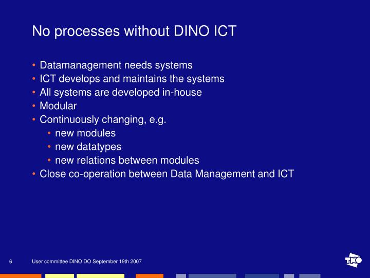 No processes without DINO ICT