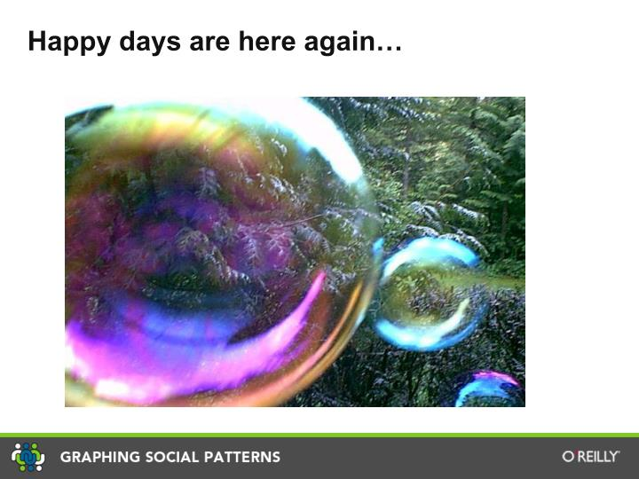 Happy days are here again…
