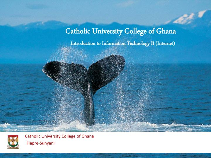 Catholic university college of ghana fiapre sunyani