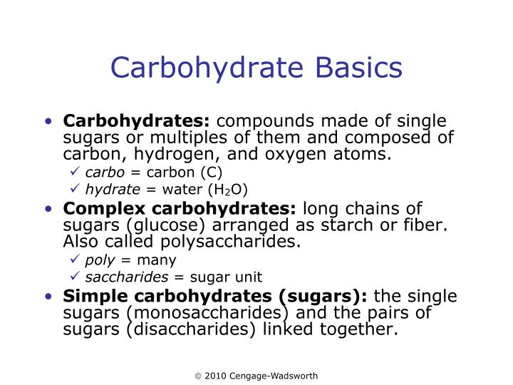Carbohydrate basics