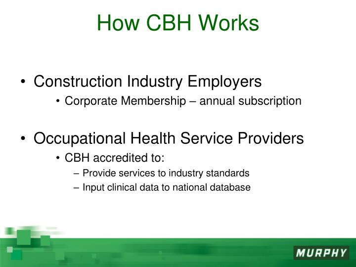 How CBH Works