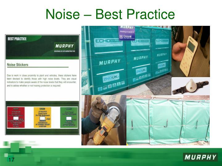Noise – Best Practice