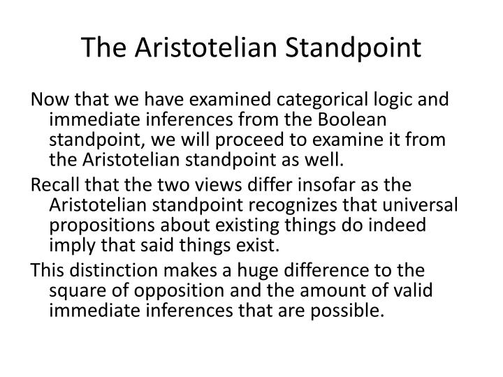 The Aristotelian Standpoint