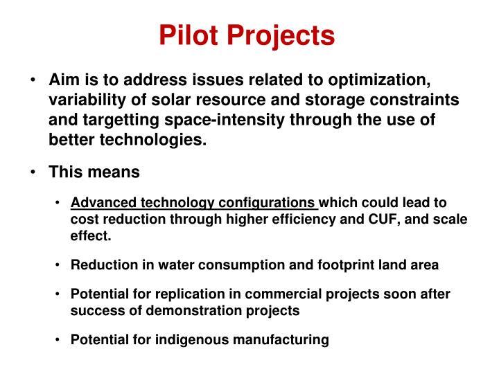 Pilot Projects
