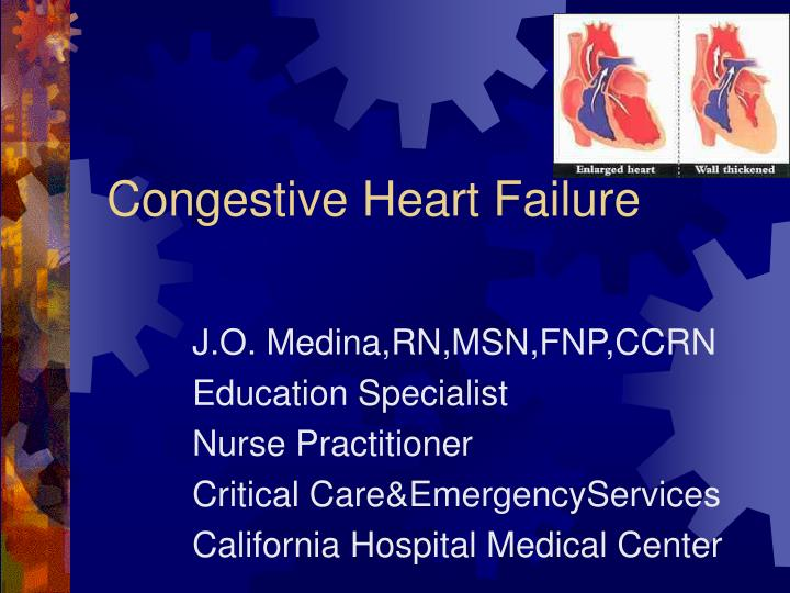 congestive heart failure case study presentation