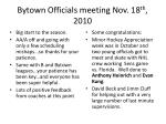 bytown officials meeting nov 18 th 2010