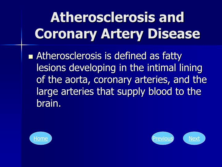 Atherosclerosis and Coronary Artery Disease
