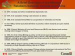 a brief overview of the mineral relations between canada and china