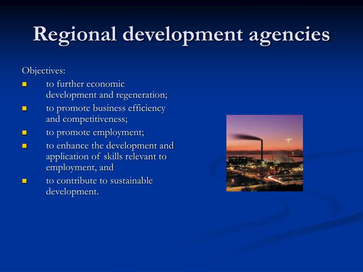 Regional development agencies