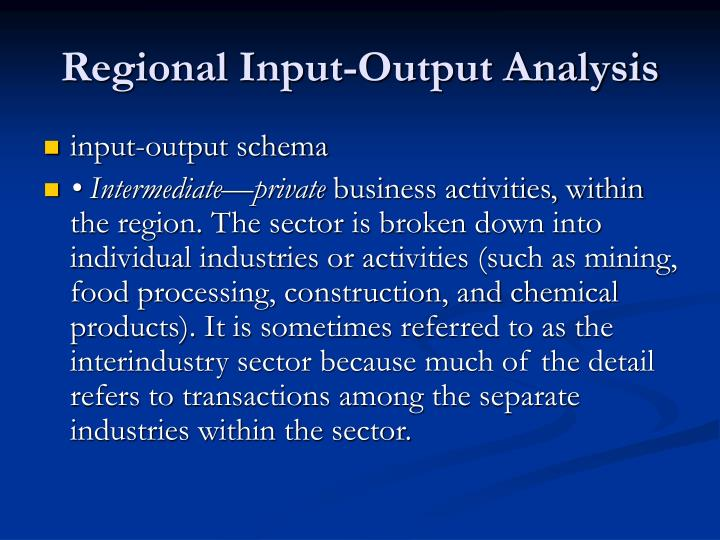 Regional Input-Output Analysis