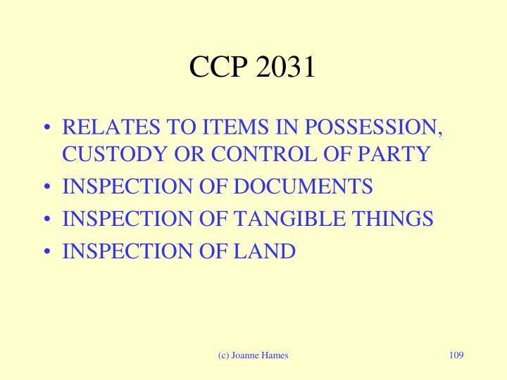 CCP 2031