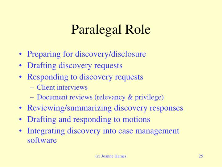Paralegal Role