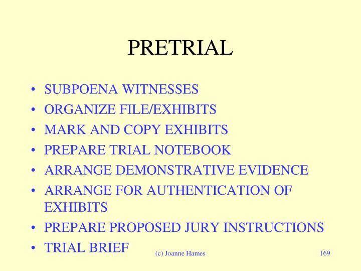 PRETRIAL