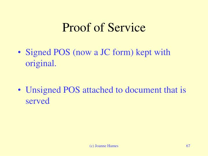 Proof of Service