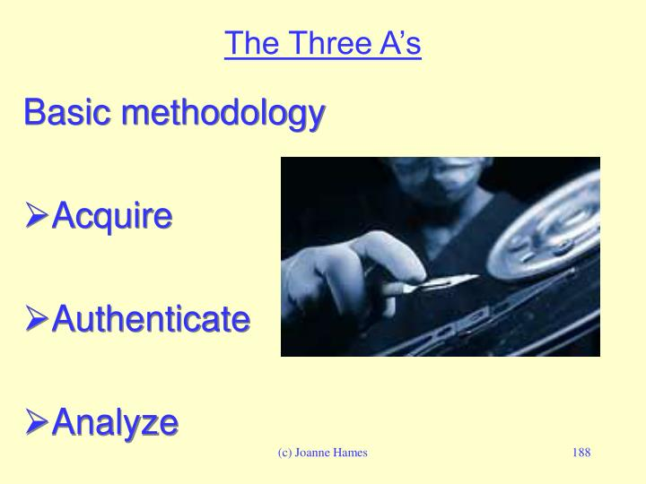 The Three A's