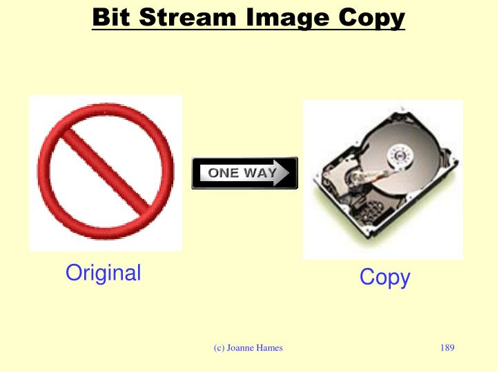 Bit Stream Image Copy